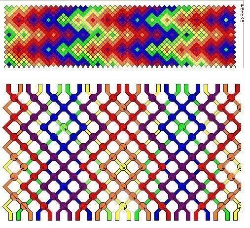фенечка двойной гейзер схемы