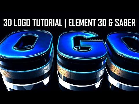 3D LOGO Tutorial | ELEMENT 3D Saber | After Effects