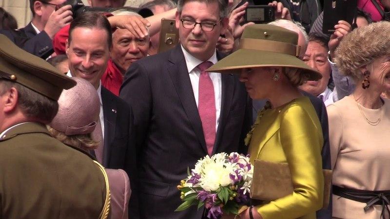 Koning Willem-Alexander en koningin Máxima ontvangen in Luxemburg