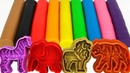 Learn Colors with 9 Color Play Doh and Wild Animals Molds | PJ Masks Yowie Kinder Surprise Eggs