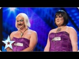 Bosom Buddies sing 'La Vie En Rose' and surprise all | Week 4 Auditions | Britain's Got Talent 2013