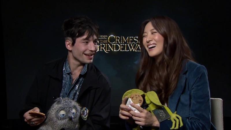 Ezra Miller Gets Emotional During Interview - Fantastic Beasts 2
