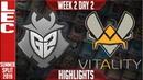 G2 vs VIT Highlights | LEC Mùa hè 2019 | G2 Esports vs Vitality LEC Summer 2019 Week 2 Day 2