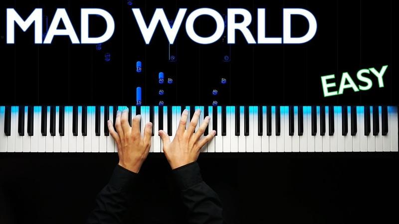 Mad World - Gary Jules ver.   Piano tutorial   Karaoke