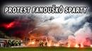 Protest a přerušení zápasu pyrotechnikou fanoušků Sparty v Příbrami