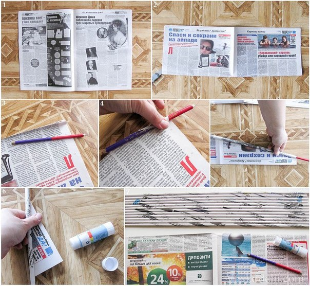 Как сделать из газет корзинки