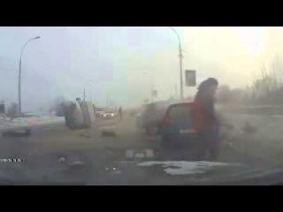 ДТП, видеорегистратор дикая авария в Новосибирске