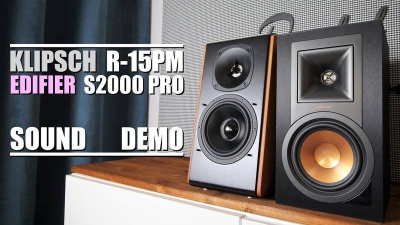 Edifier S2000 Pro vs Klipsch R-15PM || Sound Demo w/ Bass Test