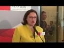 Nahles fordert von CDU und CSU Ende der Selbstblockade