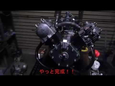モンキーのエンジンでV型2気筒エンジンを作ってみた