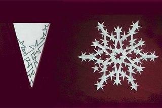 Схемы бумажных снежинок к Новому году.  Факты отовсюду.  Автор: Собиратель фактов.