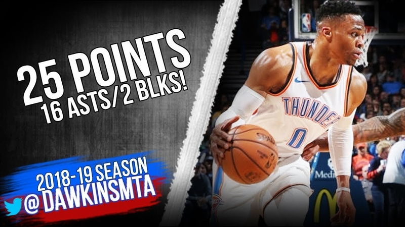 Russell Westbrook Full Highlights 2019 01 08 Thunder vs TWolves 25 Pts 16 Asts FreeDawkins