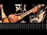 Sasha Rock'n'Roll guitar lessons - G.B.H. (City Baby Attacked By Rats) видео урок №22 tutorial