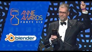Ton Roosendaal receives Annie Award for Blender