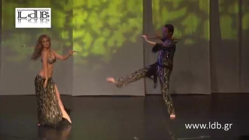 Lia Verra Nikolas Kazakos at the LdB Greece Oriental Dance Festival Modern Sai 23797