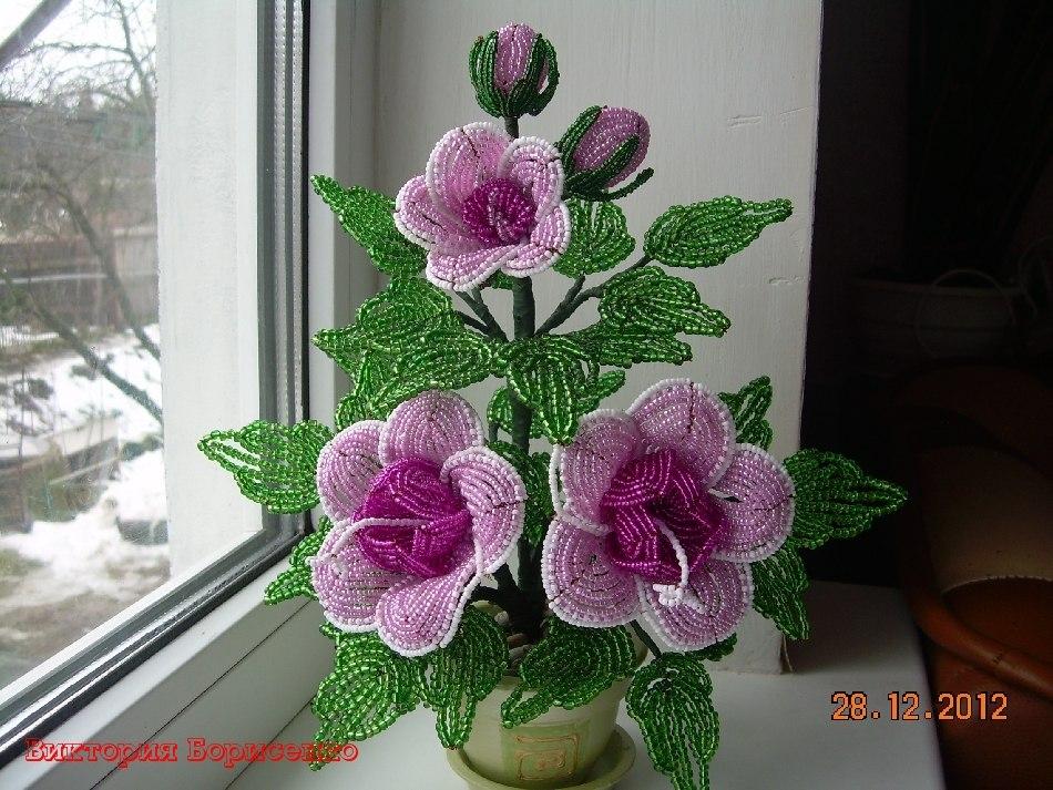 Бисероплетение мастер класс своими руками цветы