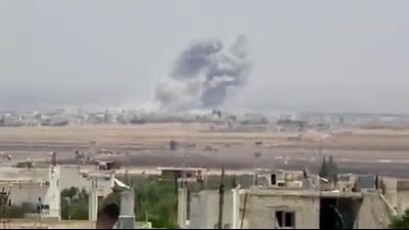Сирия. Провинция Идлиб. Авиаудары по позициям боевиков