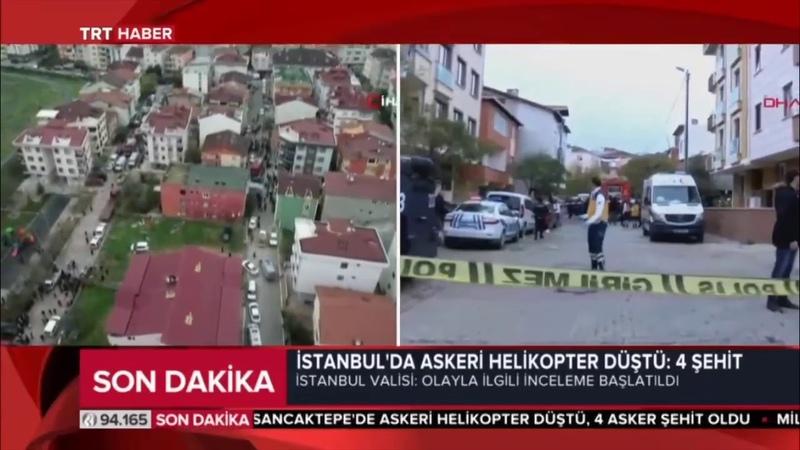 SON DAKİKA ! İSTANBUL'DA ASKERİ HELİKOPTER DÜŞTÜ:4 ŞEHİT 1 YARALI