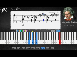 Beethoven - Bagatelle No. 25 in A minor, Für Elise