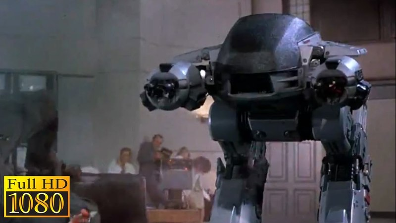 RoboCop (1987) - ED 209 Malfunctions Out of control (1080p) FULL HD