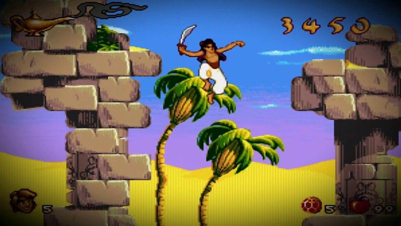Aladdin sega (уровни 1-3)