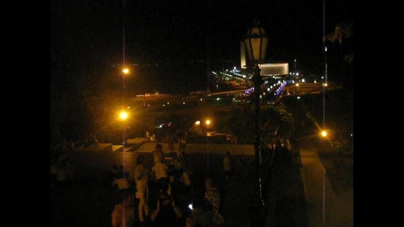 Моя интервальная съёмка Zeitraffer, Timelapse - 9 - Одесса.6.08.18. 2 ночи - Потемкинская лестница Морвокзал