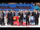 08.06.2018 Владимир Путин и Председатель КНР Си Цзиньпин посетили город Тяньцзинь и наблюдали за игрой юношеских хоккейных команд двух стран.