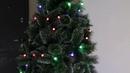 Гирлянда с крупными шариками елка 210 см