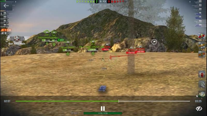 WZ 120-1 FT неплохая штурмовая ПТ