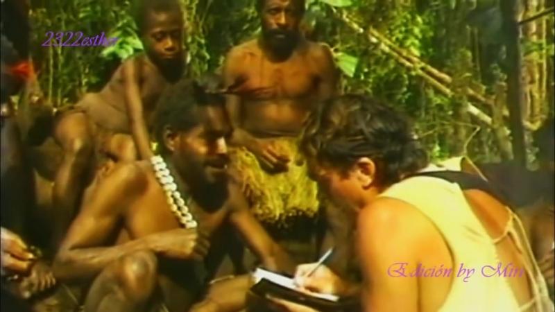Племя Toulambis Первая встреча с белым человеком Уникальное видео