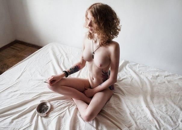 Nurse with big natural tits making blowjob