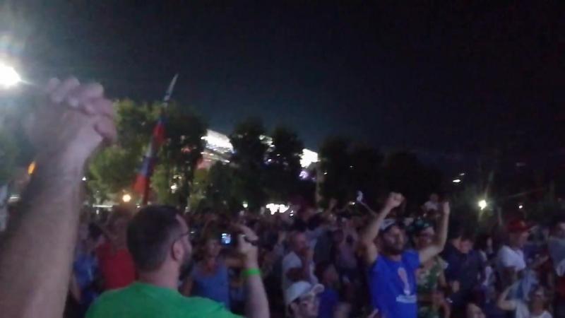 Чемпионат мира по футболу 2018. Сочи-олимпийский парк. Россия - Хорватия. 7. 07.2018
