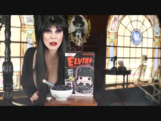 Hello little monsters! @TheRealElvira, Mistress of the Dark puts a little bite back in your breakfast with our @HotTopic exclusi