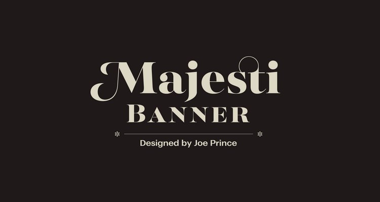 шрифт MajestiBanner Personal License