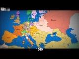 Политическая карта Европы с 1140 по 2012