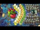Plants vs Zombies 2 Apple Mortar and Wasabi Whip vs 999 Gargantuar