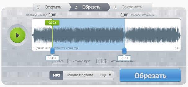 Обрезать музыку приложение
