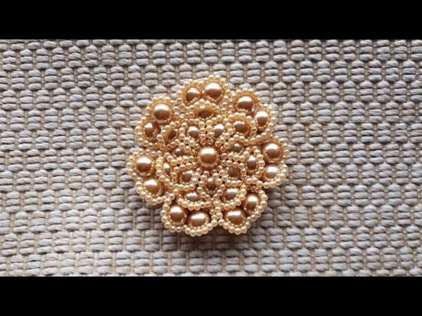 Tutorial diy | flor de perolas raquel perez