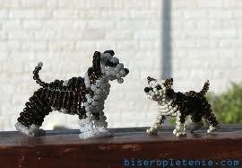 Симпатичные собачки, сделанные своими руками, объемные животные из бисера.