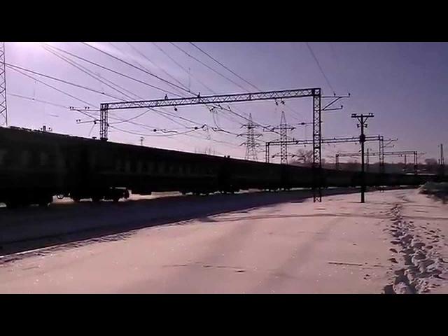 Электровоз ЧС7-121 с пассажирским поездом 231 Ивано-Франковск - Днепропетровск
