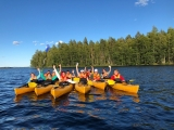 Kayaking in Saimaa