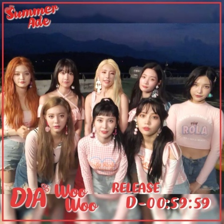 "DIA Official instagram on Instagram: ""[다이아] 'Summer Ade' 🎵음원🎵 발매 🌟1시간 전🌟 오늘 오후 6시! 다이아51032"