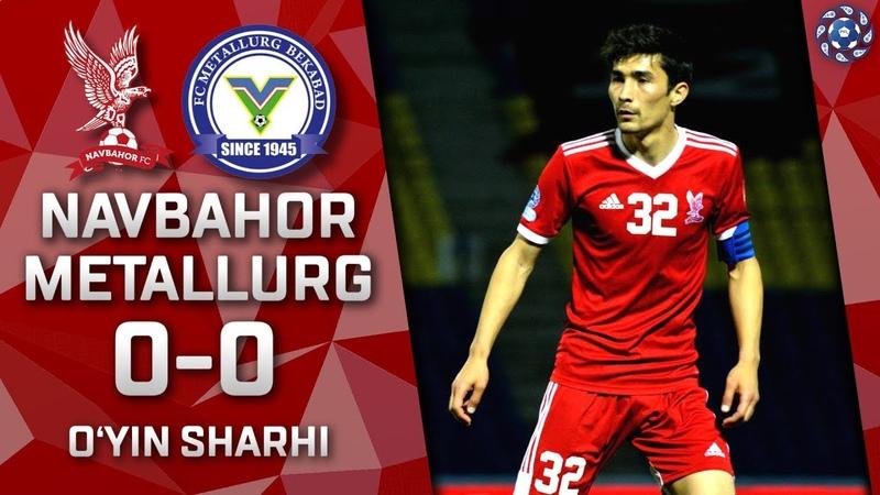 Navbahor - Metallurg - 0:0 | O'yin sharhi | Superliga 9-tur (19.05.2019)
