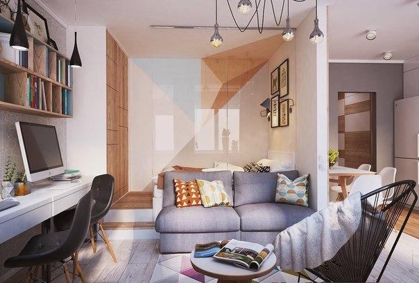 Проект квартиры площадью 40 кв.