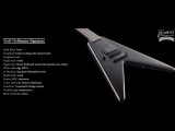 Framus Custom Shop Masterbuilt - Wolf Hoffmann Signature Soild Black Satin 7 str