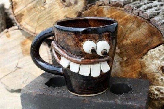 Забавная кружка для кофе.