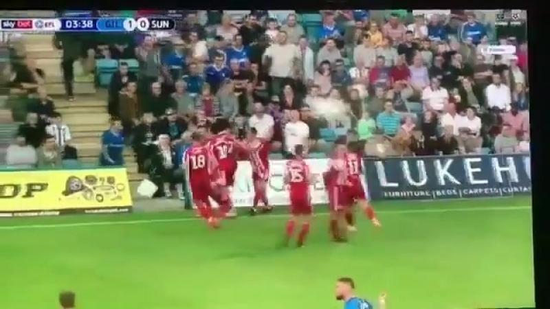 EFL League One 2018/19. Джиллингем 1:4 Сандерленд. Гол Криса Магуайера