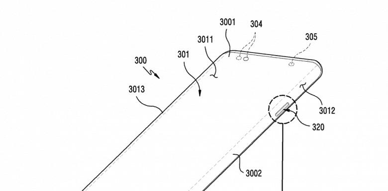 Будущий телефон от компании Samsung будет с вырезами в дисплее для кнопок.