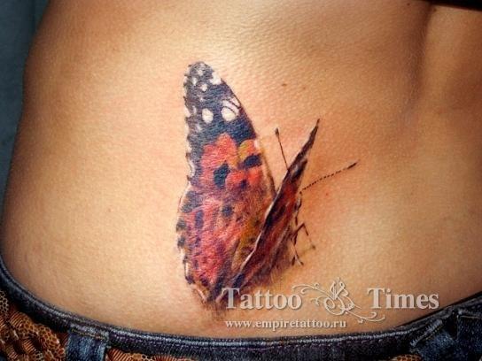 Кто делает тату в виде бабочки