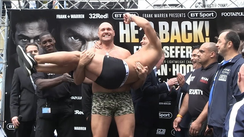 FUNNY! TYSON FURY VS SEFER SEFERI WEIGH INS FACE OFF, BOTH SHOW LOVE RESPECT